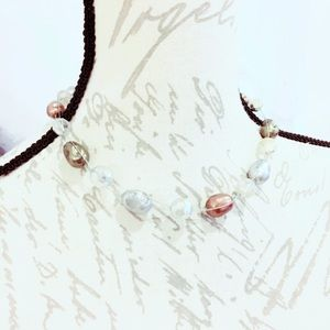 Floating Plastic Copper Necklace
